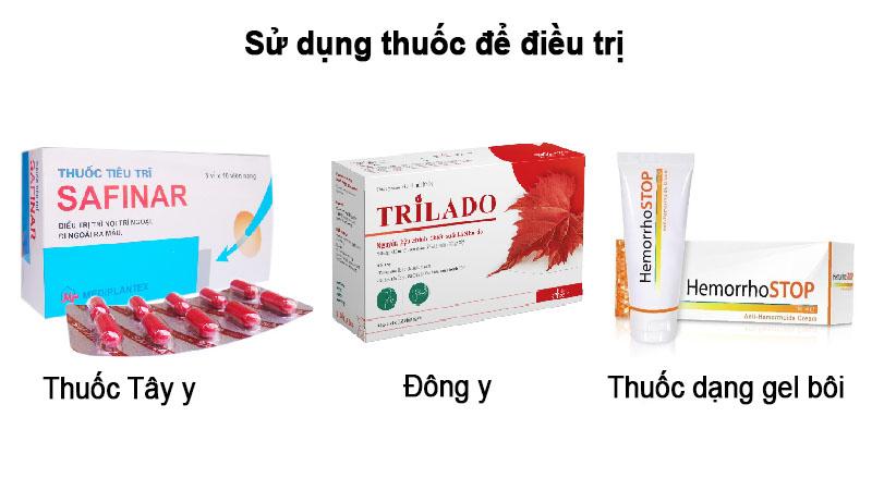Bệnh nhân nên sử dụng các loại thuốc Đông y, Tây y hoặc dạng thuốc gel bôi để điều trị triệu chứng và ngắn ngừa biến chứng.
